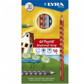 Lapices Lyra Groove Anchos x10 colores