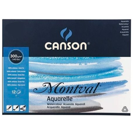 Block Canson Montval 300 grs (24x32) x 12 hjs