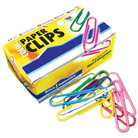 Broches Clips Forrados color N- 6 (50mm) x  50 und