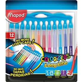 Marcadores Maped Color Peps Long Life Innovation x12 Colores