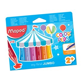 Crayones Cera Maped Color Peps Maxi Jumbo x12 Colores