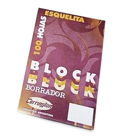Block Borrador Carrington/A6 Esquelita x 100 hjs. Liso - Pack x 10 und