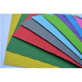 Carton Microcorrugado Color (50x70 cm) - Pack x 10 und