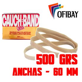 Bandas Elasticas Cauch Band Latex  500 grs. 60 mm Anchas