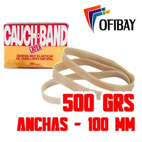 Bandas Elasticas Cauch Band Latex  500 grs.100 mm Anchas