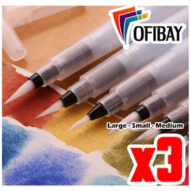 Set de Pinceles Waterbrush x 3 und - Small Medium Large