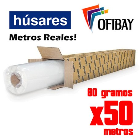 Rollo Plotter Husares (0184)  60 cms x 50 mts 80 grs