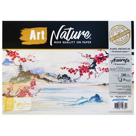 Block Art Nature 20% Algodon 17x25 240 grs x 20 hjs
