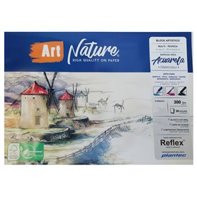 Block Art Nature Multitecnica 17x25 300 grs x 20 hjs
