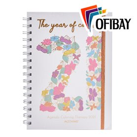 Agenda 2021 Mooving 15x21cm Semanal Coloring Therapy