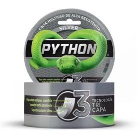 Cinta Adhesiva Poxipol Python Duct Tape 48mm x 9 mts Gris