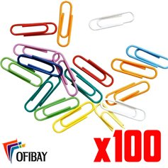 Broches Clips Forrados color N- 4 (33 mm) x 100 und.