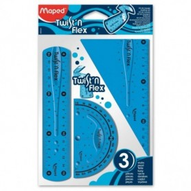 Set Geometria Maped Twis Flex 3 Piezas 15 cm.