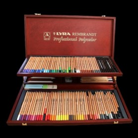 Lapices Lyra Rembrandt Polycolor x 105 colores Caja Madera